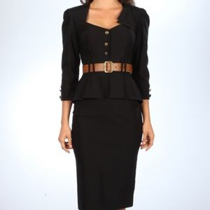 Stop Staring! Cadet Black Dress